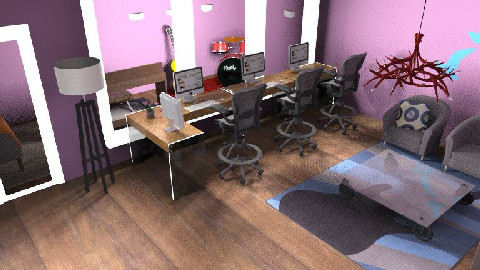 Recording Studio - Rustic - Office - by brookethedrummer