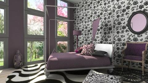 Purple bedroom - Minimal - Bedroom - by Laurika