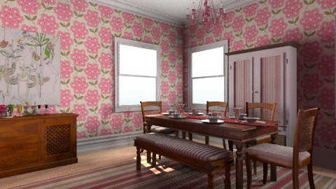 pink dining room - Modern - Dining room - by sarahl