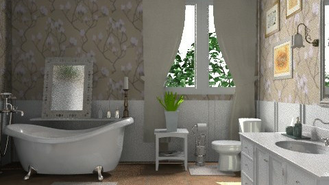 romantic bath - Classic - Bathroom - by KittiFarkas