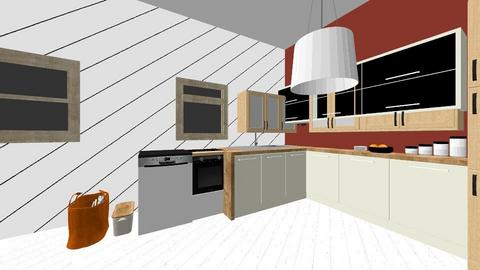 cuisine de coloc riche - Modern - Kitchen - by Isabellebinot