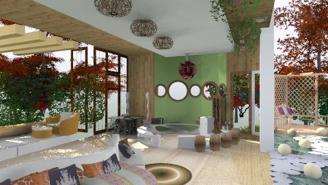 forest living room - Country - Living room - by ivana7
