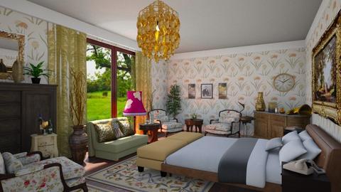 Maximalist bedroom - by ilcsi1860