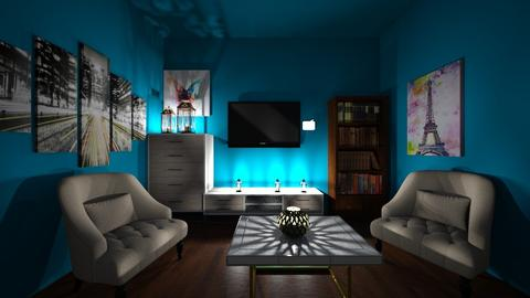 Blue - Living room - by Diy the day