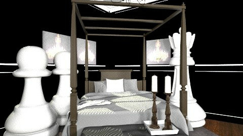 chess bedroom - Glamour - Bedroom - by dancergirl1243
