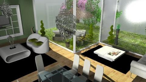 greeen room - Modern - Living room - by titania