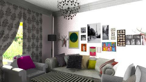 living room final design - Living room - by bellabravis