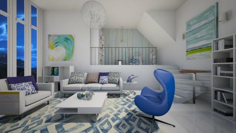 Summer Blues - Modern - Living room - by janip