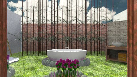 bamboo stone - Rustic - Bathroom - by Veny Mully