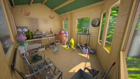 garden shed - Garden - by Karen Priest