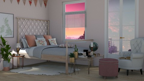 Pink and Copper - Bedroom - by sarahsego
