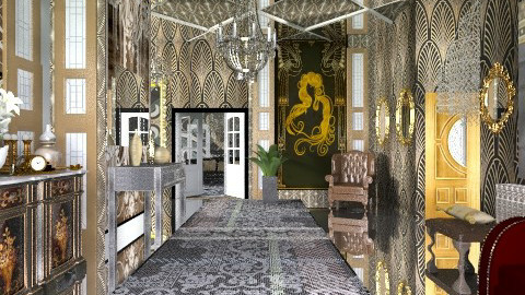 Gatsby hall - Bathroom - by milyca8