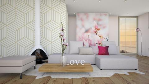 Pink Lroom - Living room - by KimAlys