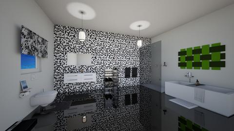 Black and white bathroom - Bathroom - by kwanda01