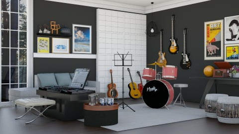 Music Room for Divertone - Modern - by ayu DR
