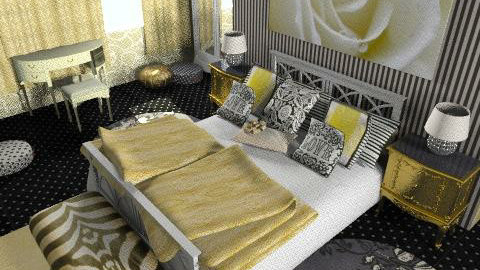 gold rose - Glamour - Bedroom - by chania