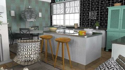 Warehouse - kitchen - Eclectic - Kitchen - by du321