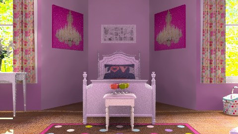 Dots and Spots - Feminine - Kids room - by egrimsley