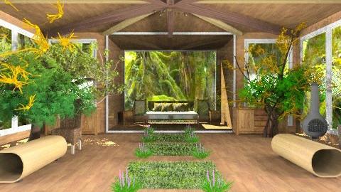 Treehouse Bedroom/Living - Rustic - Living room - by deepthinker