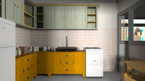 fuga com shrek - Vintage - Kitchen - by Maria_Julia