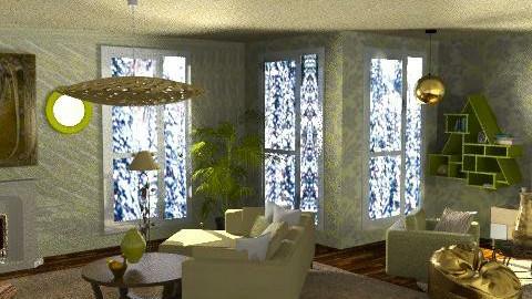 Golden Agra - Retro - Living room - by SariJo