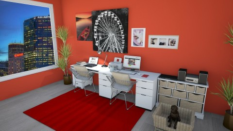 Home Office for Kelly - Glamour - Office - by Lissii08