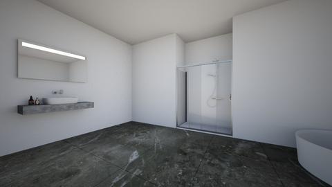 dark bathroom - Bathroom - by ecenur