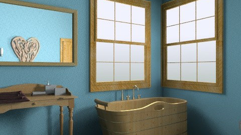 the wooden bathroom  - Country - Bathroom - by natalie b
