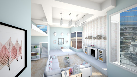Bachelorette Pad - Glamour - Living room - by Addie Smooches