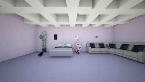 the cat world - Bedroom - by Girly Dolphin