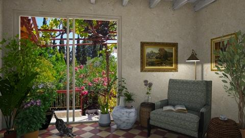 Country Patio - Living room - by GraceKathryn