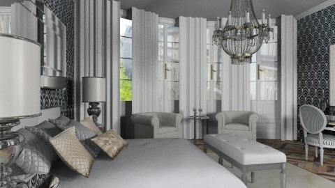 Glam bedroom - Modern - Bedroom - by liling
