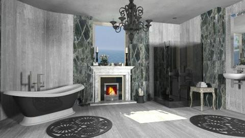 Bathroom with fireplace - Classic - Bathroom - by XValidze