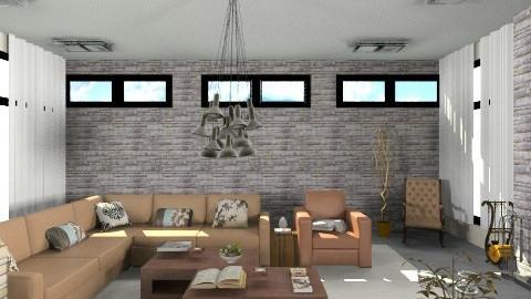 _354_Reading room_ - Retro - Living room - by anjuska9