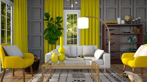 Yellow Chairs - Living room - by Gabby Lovell