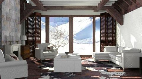 Log cabin - Modern - Living room - by liling