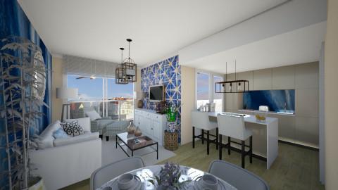 Coastal flat  - Living room - by Tim VB