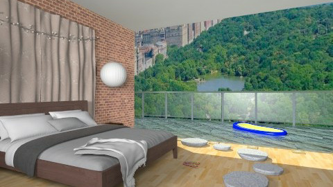 Poolside Manhattan - Bedroom - by Jeannetta Janssen