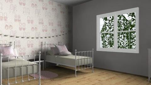 girls bedroom - Bedroom - by rororo