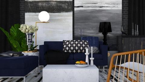 Black and Blue - Modern - Living room - by HenkRetro1960