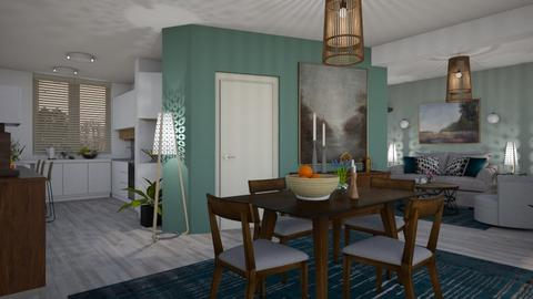 Living room and kitchen - Modern - by janip