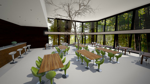 Cafeteria - Modern - Dining room - by hundal1998