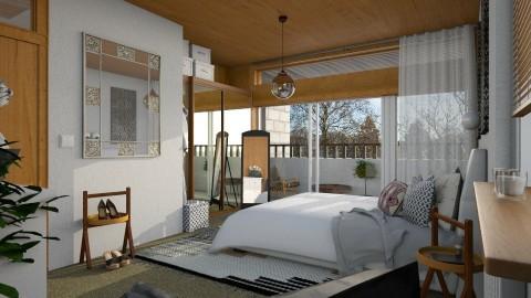 MCM Apt_Bedroom - Retro - Bedroom - by evahassing