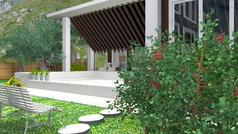 Mountain house: Exterior and Garden. View 4 - Country - Garden - by Your well wisher