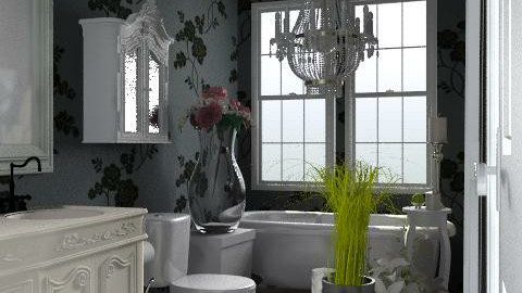 Grey bathroom - Glamour - Bathroom - by alenah