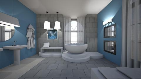 Sleek  - Modern - Bathroom - by XiraFizade
