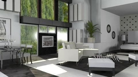 Lux B&W Studio  - Modern - Living room - by liling