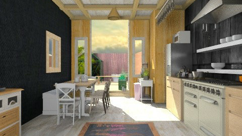 My wooden kitchen b - Rustic - Kitchen - by mrschicken