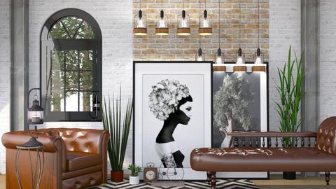 Industrial Urban - Modern - Living room - by Jessica Fox
