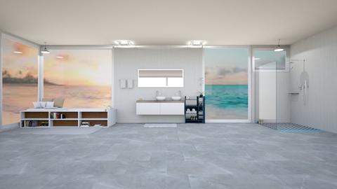Ocean Bathroom - Bathroom - by Sophber